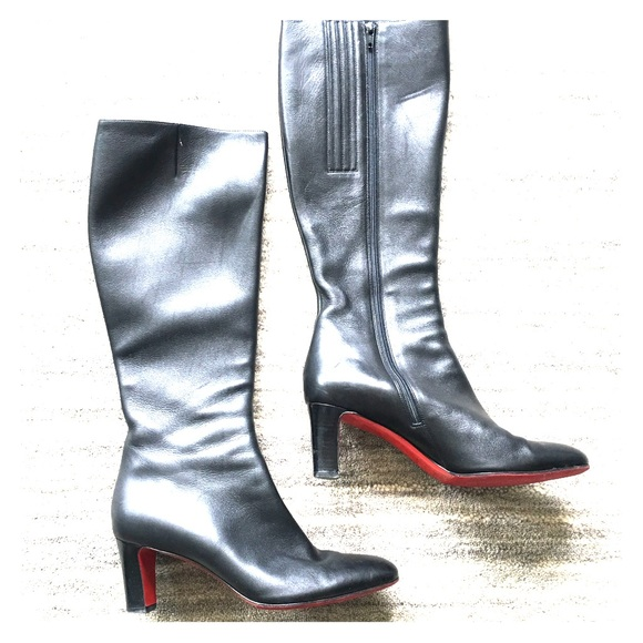a0ab5a54d36 Christian Louboutin Shoes - Authentic Christian Louboutin leather boots  sz38.5